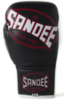 Sandee Cool-Tec Lace Up Pro Fight Black, White & Red Leather Boxing Glove Thumbnail