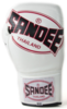 Sandee Cool-Tec Lace Up Pro Fight White, Black & Red Leather Boxing Glove Thumbnail