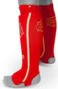 Sandee Red/White Cotton Slip-on Competition Shinguard Thumbnail