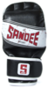 Sandee Sport Black/White/Red Synthetic Leather MMA Sparring Glove Thumbnail