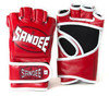 Sandee MMA Fight Gloves - Leather Red/White  Thumbnail