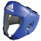 View the Adidas Boxing Head Guard 'AIBA' Licensed CE Blue online at Fight Outlet