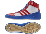 View the Adidas Havoc K Blue/White/Red Junior Boots online at Fight Outlet