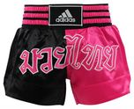 View the Adidas Thai Boxing Shorts Large Print - Black/Pink online at Fight Outlet