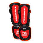 View the Bad Boy MMA Shin Guards Black/Red  online at Fight Outlet