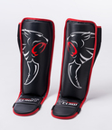 View the Carbon Claw Grappling Shin Guard Black/Red online at Fight Outlet