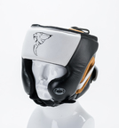 View the Carbon Claw Recoil RX-7 Head Guard White/Black/Gold online at Fight Outlet