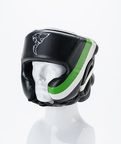 View the Carbon Claw Arma AX-5 Headguard with Cheek Protectors Black/Green  online at Fight Outlet