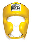 View the Cleto Reyes Headguard With Cheek Protectors Yellow online at Fight Outlet