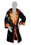 View the Cleto Reyes Hooded Boxing Robe Black/Gold online at Fight Outlet