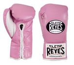 View the Cleto Reyes Pink Professional Contest Gloves online at Fight Outlet