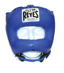 View the Cleto Reyes Pointed Nylon Bar Headguard Blue online at Fight Outlet