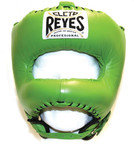 View the Cleto Reyes Pointed Nylon Bar Headguard Green online at Fight Outlet
