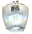 View the Cleto Reyes Pointed Nylon Bar Headguard White online at Fight Outlet