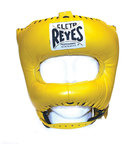 View the Cleto Reyes Pointed Nylon Bar Headguard Yellow  online at Fight Outlet