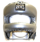 View the Cleto Reyes Rounded Bar Headguard Platinum online at Fight Outlet