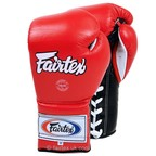View the BGL7 Fairtex 12oz Red Mexican Lace-up Gloves online at Fight Outlet