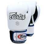 View the BGV1 Fairtex 3-Tone White Boxing Gloves online at Fight Outlet