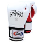 View the BGV9 Fairtex White-Red Mexican Style Boxing Gloves online at Fight Outlet