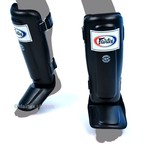View the SP3 Fairtex Black Double Padded Shin Pads online at Fight Outlet