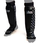 View the SP6 Fairtex Black MMA Style Shin Pads online at Fight Outlet