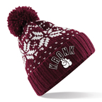 View the Kronk Bobble Ski Hat Burgundy online at Fight Outlet