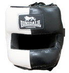 View the Lonsdale Barn Burner Face Saver Boxing Headguard, Black White online at Fight Outlet