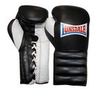 Lonsdale Barn Burner Lace Up Training Glove, Black/White