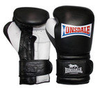 View the Lonsdale Barn Burner Training Glove Hook and Loop, Black and White  online at Fight Outlet