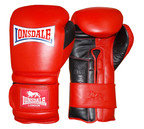 View the Lonsdale Barn Burner Training Velcro Boxing Glove, Red Black  online at Fight Outlet