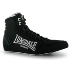 View the Lonsdale Contender Low Boxing Boots Black/White online at Fight Outlet