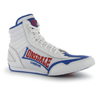 View the Lonsdale Contender Boxing Boots White./Blue/Red online at Fight Outlet