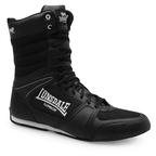 View the Lonsdale Contender High Boxing Boots Black/White  online at Fight Outlet
