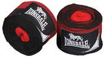 View the Lonsdale Herringbone Hand Wraps, Black/Red, 3.5m online at Fight Outlet