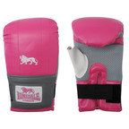 View the Lonsdale Jab Bag Mitt, Pink/Grey online at Fight Outlet