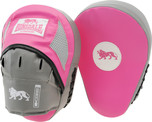 View the Lonsdale Jab Curved Hook And Jab Pads, Pink & Grey  online at Fight Outlet