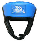 View the Lonsdale Jab Open Face Boxing Headguard, Blue online at Fight Outlet