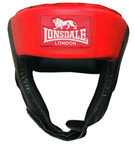 View the Lonsdale Jab Open Face Boxing Headguard, Red online at Fight Outlet