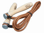 View the Lonsdale Leather Skipping Rope with Wooden Handles, 9ft online at Fight Outlet