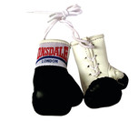 Lonsdale Mini Boxing Gloves, Black/White