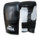 View the Lonsdale Pro Bag Mitt, Black/Grey online at Fight Outlet