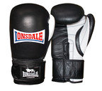 View the Lonsdale Pro Safe Spar Training Glove, Hook and Loop, Black    online at Fight Outlet
