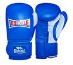 View the Lonsdale Pro Safe Spar Training Glove, Hook and Loop, Blue online at Fight Outlet