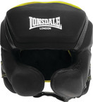 View the Lonsdale X-Lite Head Guard, Black Lime  online at Fight Outlet