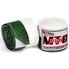 View the MTG Pro 5m Green-White Elasticated Hand Wraps online at Fight Outlet