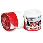 View the MTG Pro 5m Red-White Elasticated Hand Wraps online at Fight Outlet
