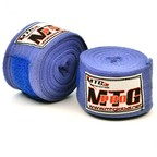View the MTG Pro 5m Blue Cotton Hand Wraps (Non-Stretch) online at Fight Outlet