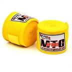 View the MTG Pro 5m Yellow Elasticated Hand Wraps online at Fight Outlet