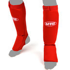 View the MTG-SF2 MTG Pro Red Elastic Shin Pads online at Fight Outlet