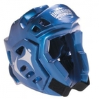 View the Macho Warrior Head Guard Metallic Blue online at Fight Outlet